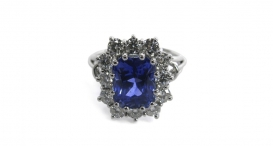 R1009 - platinum, sapphire and diamonds - foto č. 118