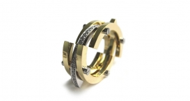 R1012 - white and yellow gold, diamonds - foto č. 116