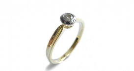 R1014 - white and yellow gold, diamond - foto č. 115