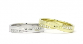 R1160 - white and yellow gold, diamonds - foto č. 29
