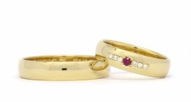 W2179-475 - rose gold, ruby and diamonds - foto č. 184
