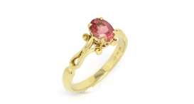 R1169 - yellow gold and spinel - foto č. 23