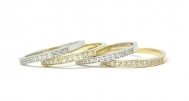 R1061 - white and yellow gold, diamonds - foto č. 87