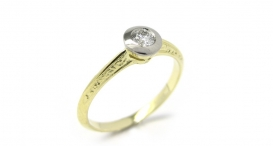 R1078 - white and yellow gold, diamond - foto č. 71